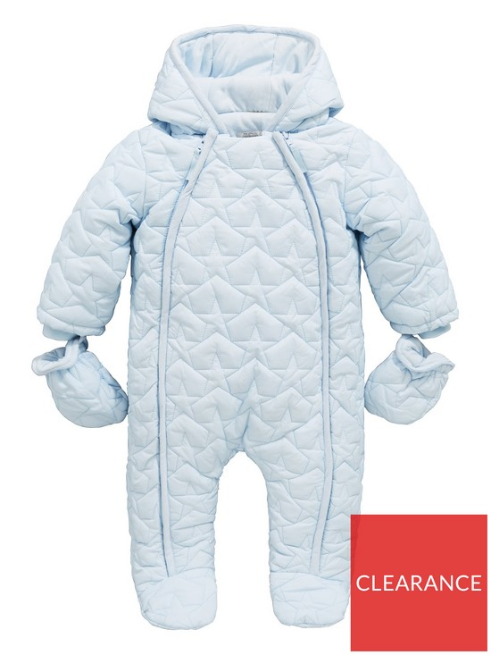 f5526b41ff3e Mamas   Papas Baby Boys Navy Quilted Pramsuit