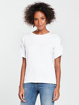 v-by-very-crochet-sleeve-ruffle-t-shirt-white