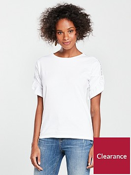 v-by-very-crochet-sleeve-ruffle-t-shirt-white