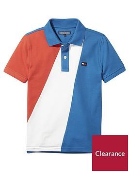 tommy-hilfiger-boys-colour-block-polo-shirt-multi
