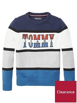 tommy-hilfiger-boys-retro-colour-block-jumper-multi