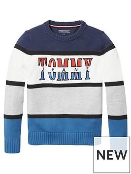 tommy-hilfiger-boys-retro-colourblock-jumper