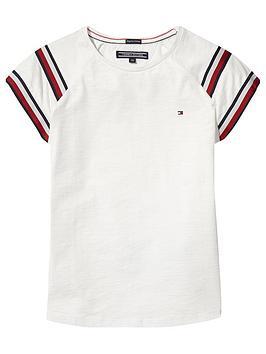 tommy-hilfiger-girls-global-stripe-t-shirt-white