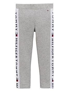 tommy-hilfiger-girls-logo-leggings-grey