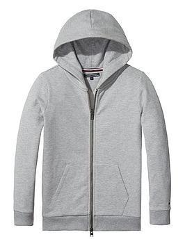 tommy-hilfiger-girls-logo-zip-through-hoodie-grey
