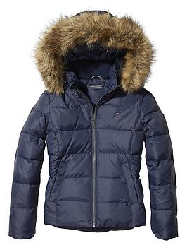tommy-hilfiger-girls-faux-fur-hood-down-jacket