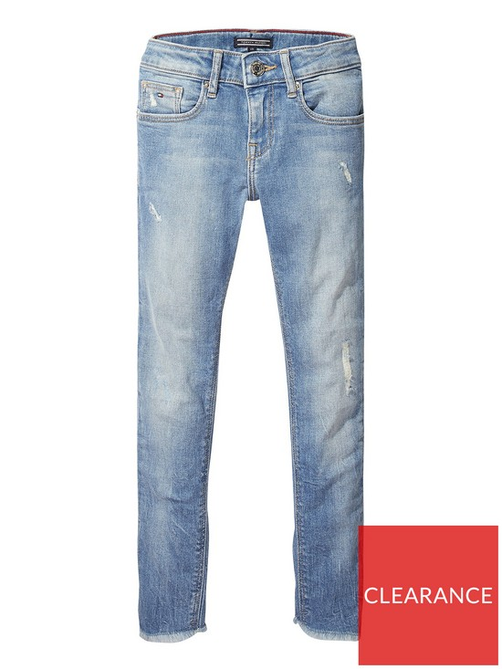 0fd78cd9 Tommy Hilfiger Girls Nora Skinny Cropped Jeans - Denim Blue | very.co.uk