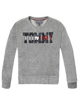 tommy-hilfiger-girls-sequin-velour-sweat-grey
