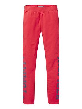 tommy-hilfiger-girls-logo-leggings-red