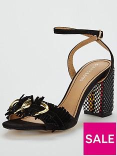 glamorous-buckle-block-heeled-sandal-black