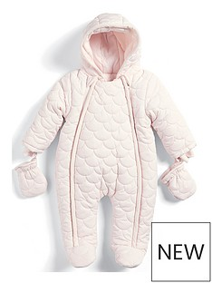 mamas-papas-baby-girls-pink-quilted-pramsuit