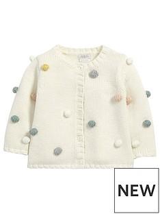 mamas-papas-baby-girls-bobble-knit-cardigan