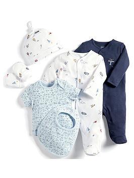 mamas-papas-baby-boys-6-piece-star-print-set