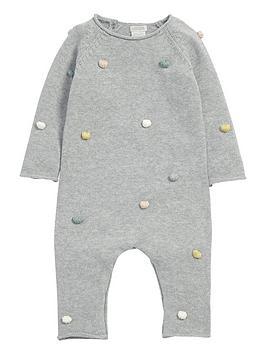 mamas-papas-baby-girls-pom-pom-knit-romper