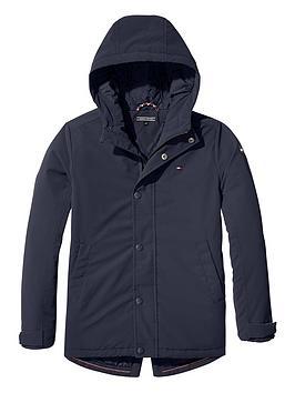 tommy-hilfiger-boys-coated-hooded-parka