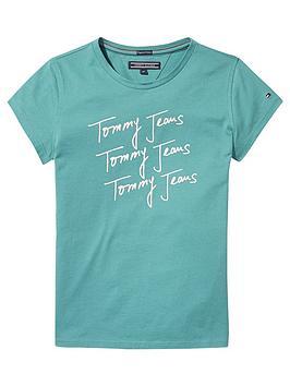 tommy-hilfiger-girls-short-sleeved-logo-t-shirt