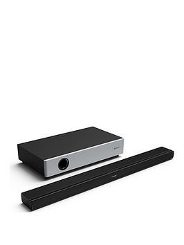 Sharp Ht-Sbw160 360W 2.1 Ultra Slim Soundbar With Compact Wireless Subwoofer, Bluetooth &Amp; Hdmi (Arc/Cec) - Black