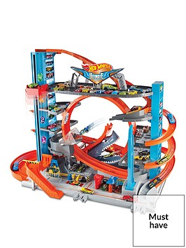 hot-wheels-hot-wheels-city-ultimate-garage-with-shark-attack-toy-cars