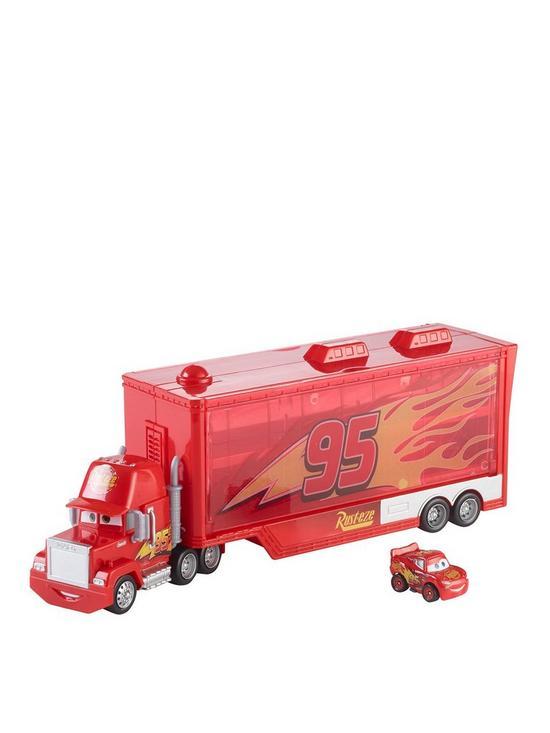 8a64405c8053 Disney Cars Mini Racer Mack Truck Transporter