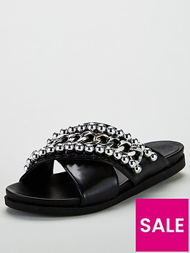 lost-ink-caprice-chain-stud-slider-black