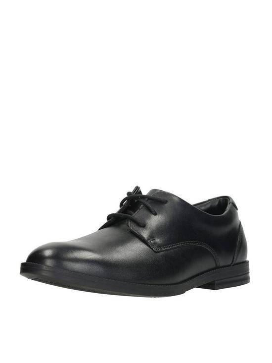 fc0470bc4a7 Clarks Older Boys Rufus Edge BL Shoe - Black | very.co.uk