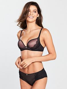 boux-avenue-sandy-satin-trim-plunge-bra-black