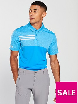 adidas-golf-3-stripe-heather-blocked-polo