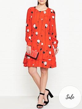 hugo-klenani-floral-print-dress-orange