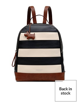 radley-radley-babington-stripe-medium-backpack-ziptop-bag