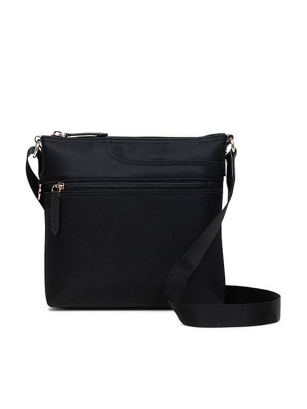 Pocket Essentials Small Zip Top Cross Body Bag Black