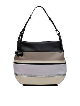 Radley Chartwell Medium Hobo Zip Top Bag - Black Multi