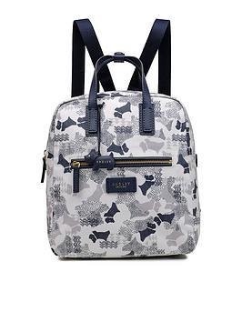 Radley Data Dog Medium Backpack Ziptop Bag - Chalk