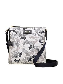 Radley Data Dog Mall Crossbody Ziptop Bag - Chalk