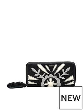 radley-leighton-house-large-zip-around-matinee-purse-black