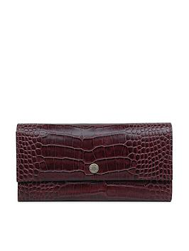 Radley Clarence House Large Flapover Matinee Purse - Wine