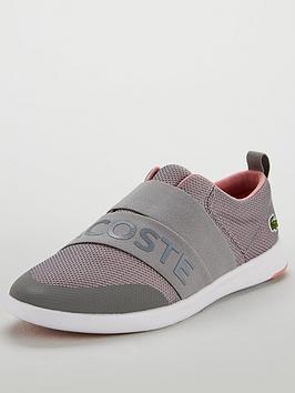 Lacoste Avenir Slip 318 2 Spw Trainer - Grey/Pink