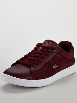Lacoste Carnaby Evo 318 8 Spw Trainer - Burgundy/White