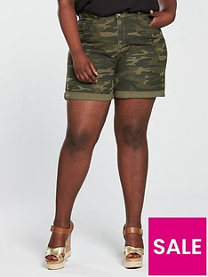 v-by-very-curve-camouflage-denim-short-print