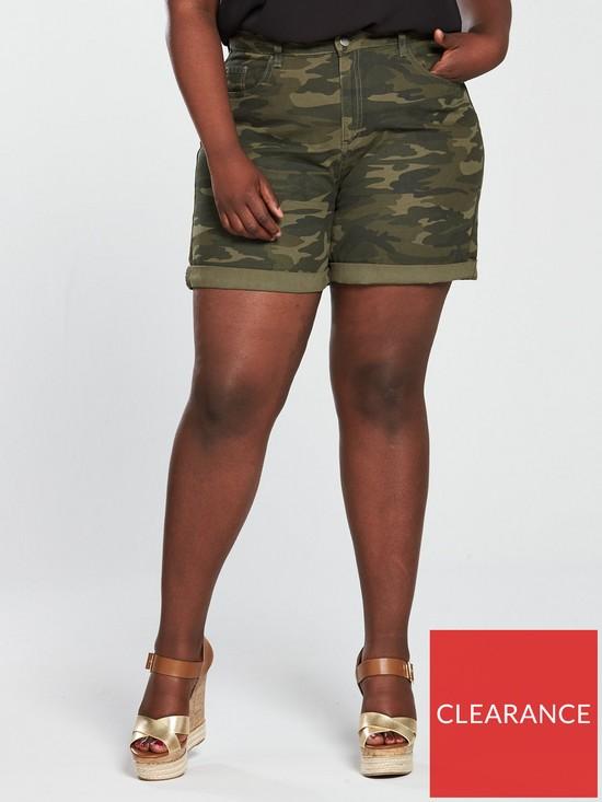Camouflage Denim Short - Print
