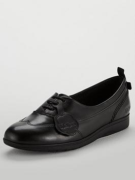 kickers-perobelle-plimsoll-lace-up-shoes-black