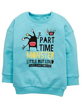 mini-v-by-very-part-time-monster-crew-neck-sweatshirt