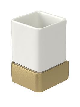 aqualux-haceka-aline-ceramic-tumbler-ndash-gold
