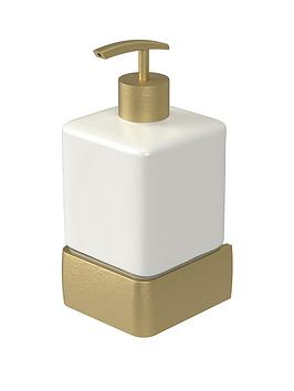 aqualux-haceka-aline-ceramic-soap-dispenser-ndash-gold