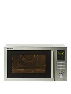 sharp-r82stma-25-litrenbsp900w-combi-microwave-stainless-steel