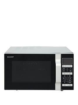 sharp-r860slm-25-litrenbsp900w-flat-tray-combi-microwave-silver