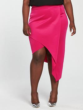 V By Very Curve Asymmetric Jersey Skirt
