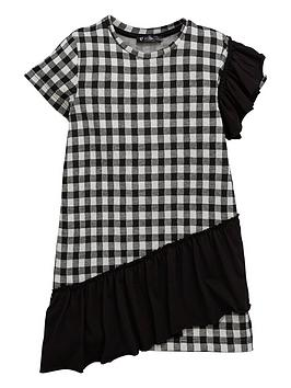 mini-v-by-very-girls-gingham-ruffle-shift-dress