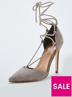 michelle-keegan-candy-real-suede-2-lace-up-pointed-court-shoe-grey