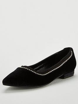 v-by-very-melissa-stud-trim-velvet-point-ballerina-shoe-black