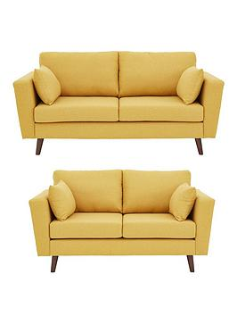 ideal-home-porter-fabric-3-seater-2-seater-sofa-set-mustard-buy-and-save